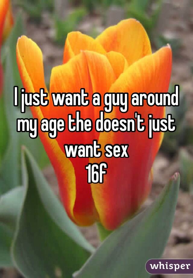 I just want a guy around my age the doesn't just want sex 16f