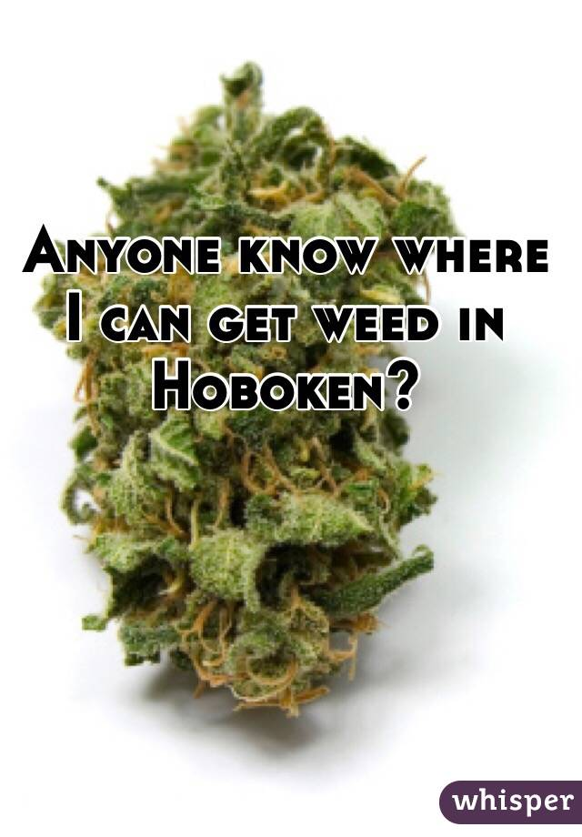 Anyone know where I can get weed in Hoboken?