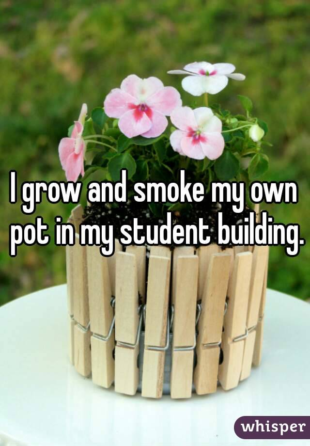I grow and smoke my own pot in my student building.