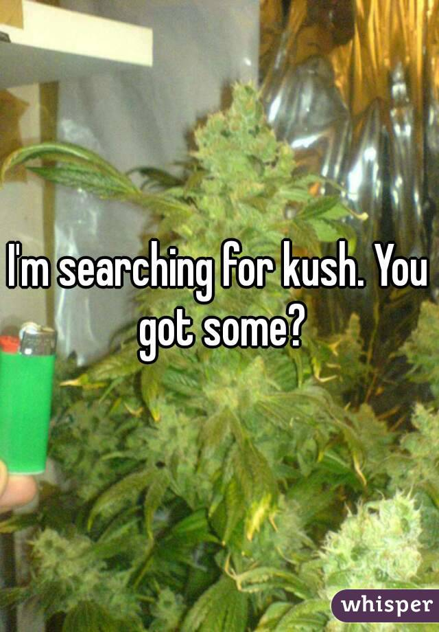I'm searching for kush. You got some?