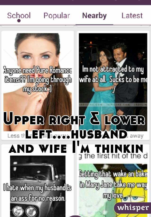 Upper right & lower left....husband and wife I'm thinkin