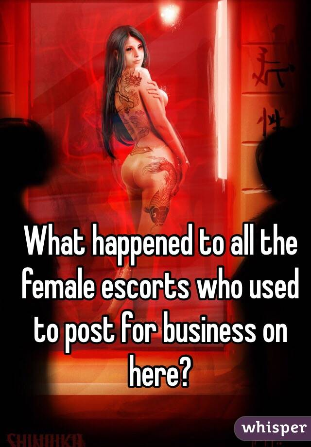 What happened to all the female escorts who used to post for business on here?