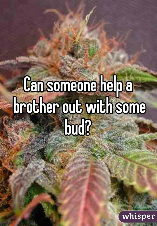 Can someone help a brother out with some bud?