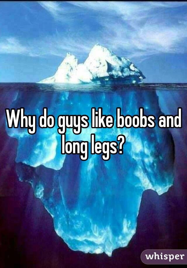 Why do guys like boobs and long legs?