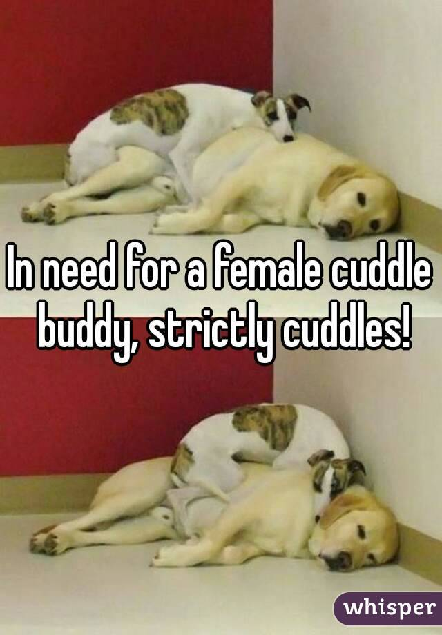 In need for a female cuddle buddy, strictly cuddles!