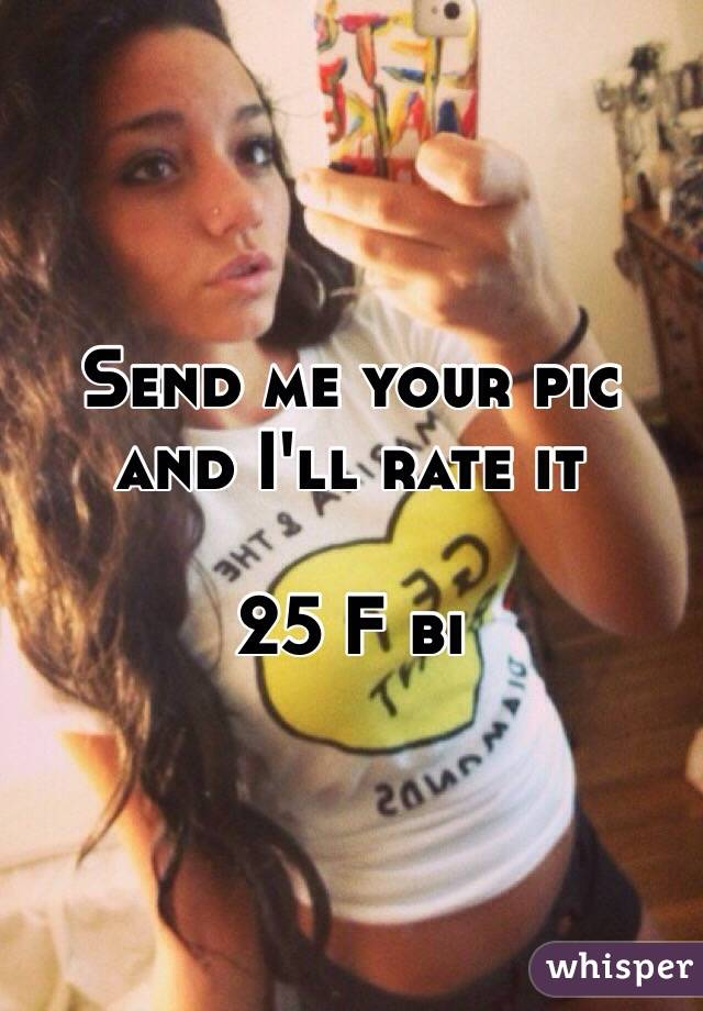 Send me your pic and I'll rate it   25 F bi