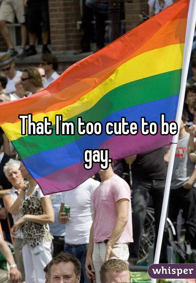That I'm too cute to be gay.