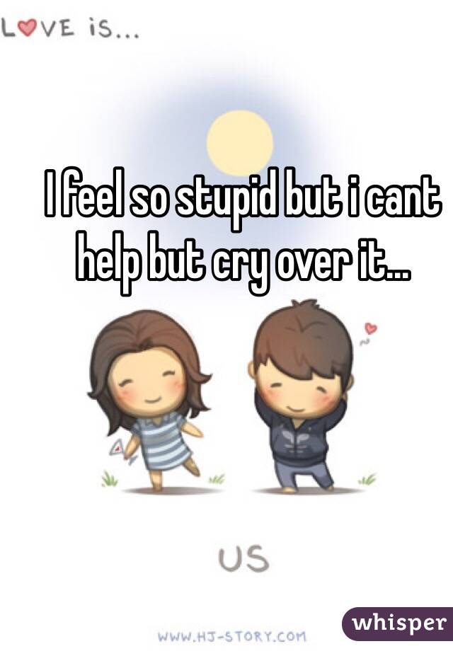I feel so stupid but i cant help but cry over it...