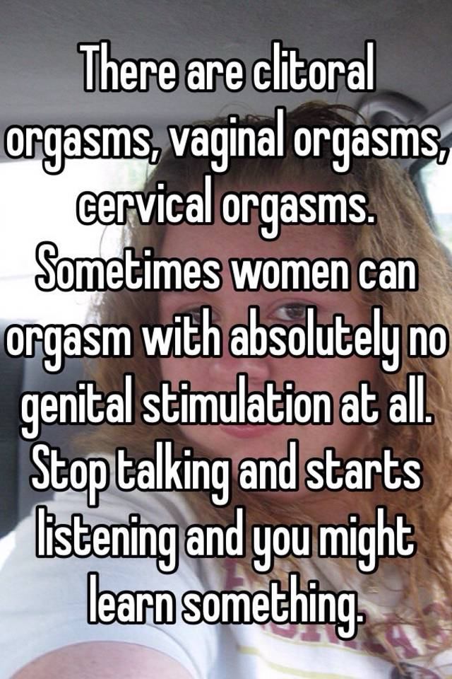 Clitoral And Vaginal Orgasm
