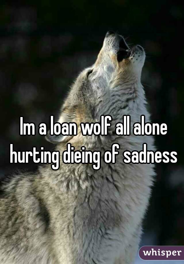 Im a loan wolf all alone hurting dieing of sadness