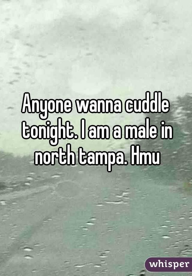 Anyone wanna cuddle tonight. I am a male in north tampa. Hmu