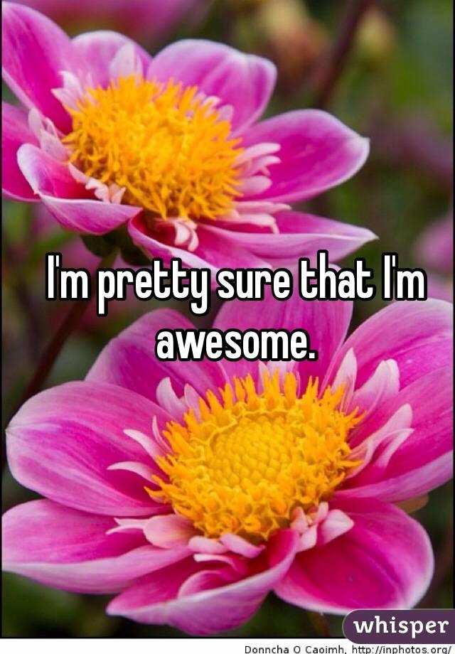 I'm pretty sure that I'm awesome.