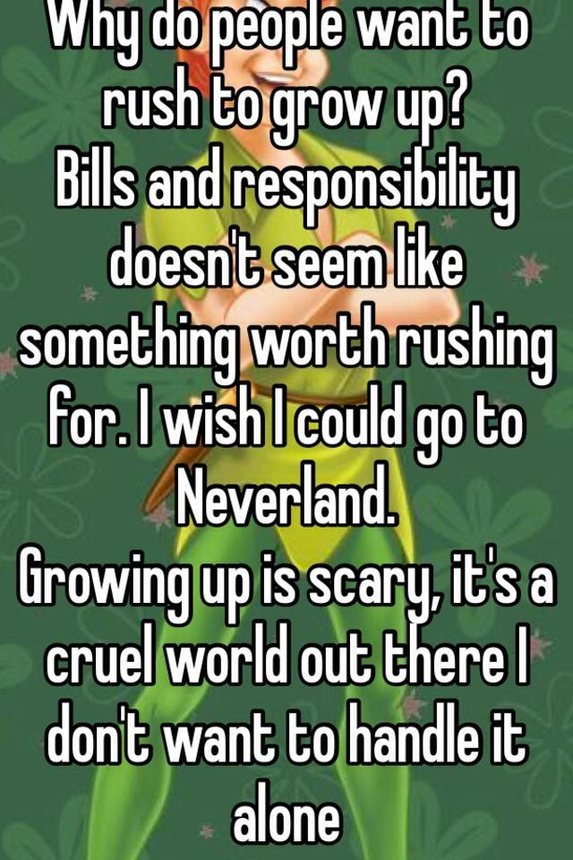 cruel world of growing up