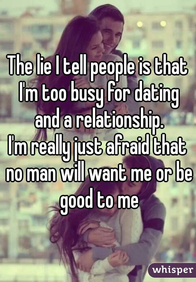 Dating a really busy man