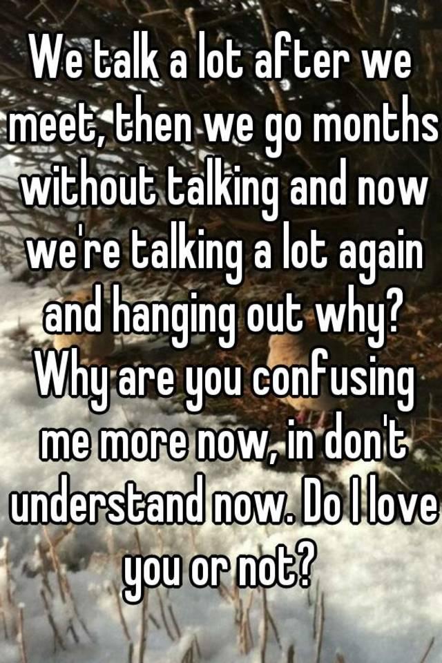 now we talking