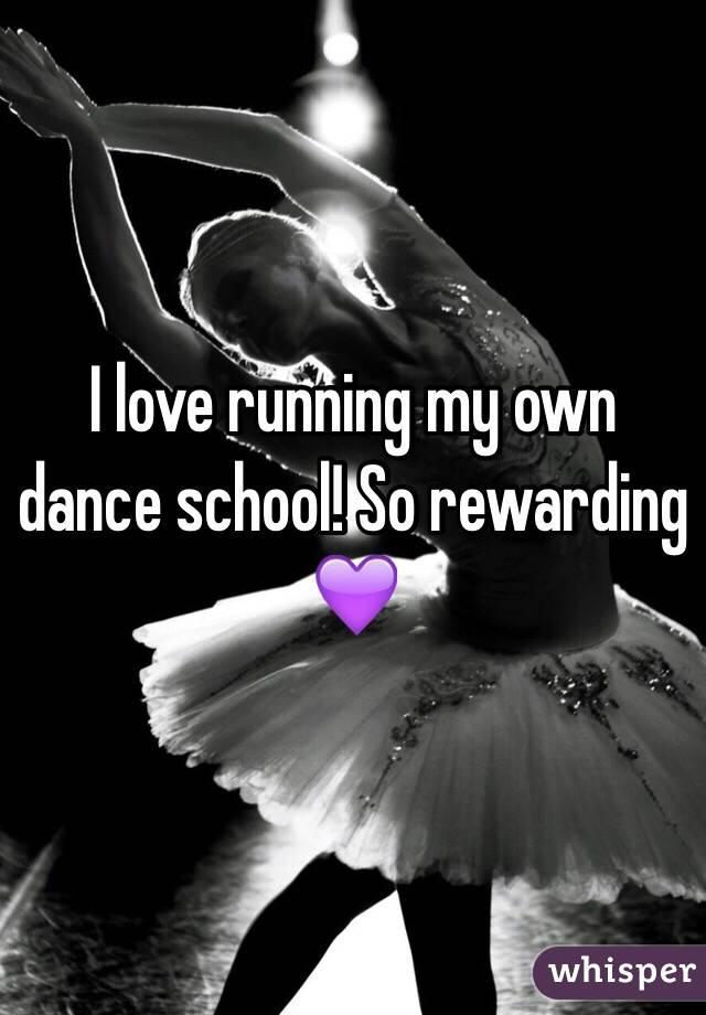 I love running my own dance school! So rewarding 💜