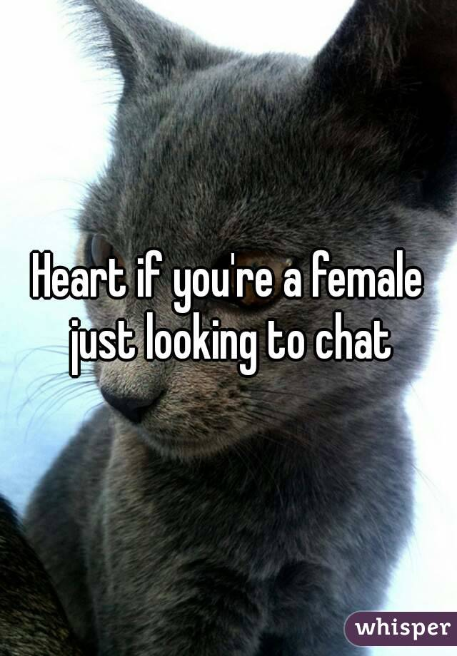 Heart if you're a female just looking to chat