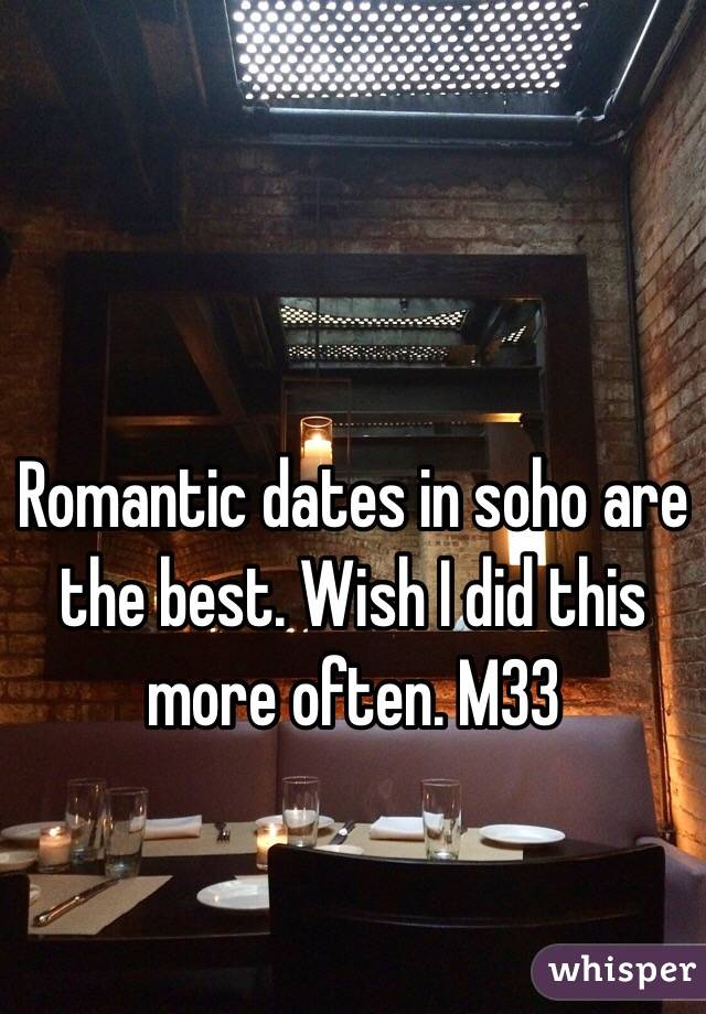 Romantic dates in soho are the best. Wish I did this more often. M33