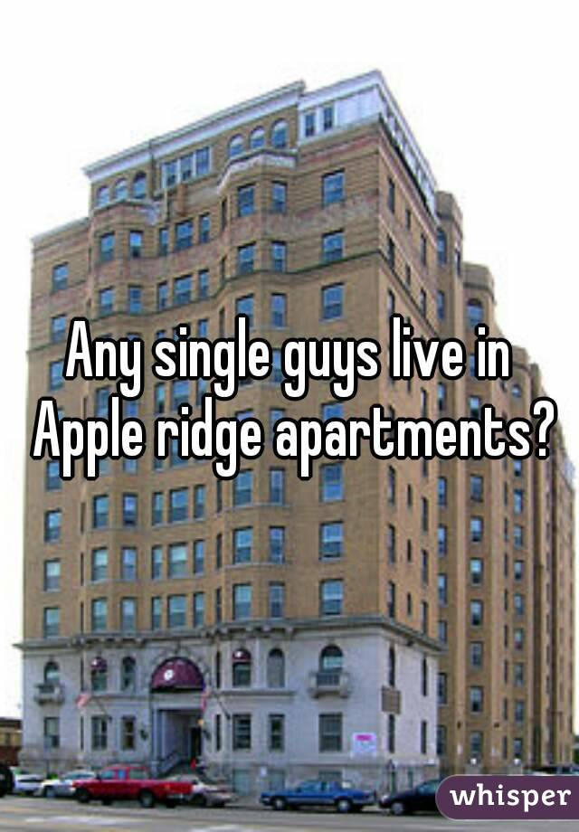 Any single guys live in Apple ridge apartments?