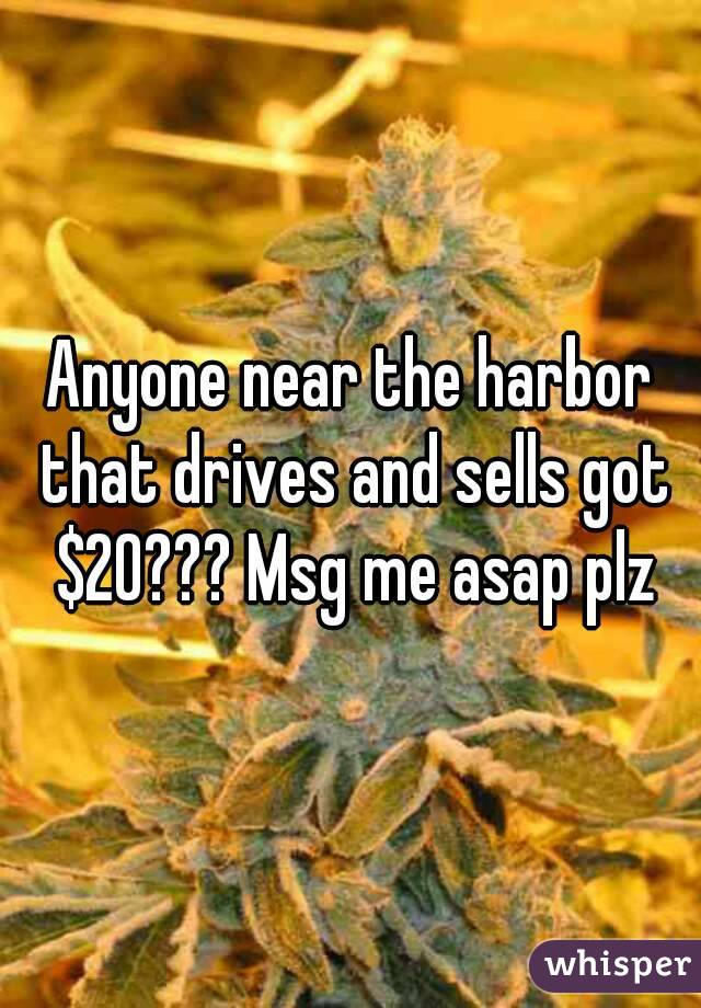 Anyone near the harbor that drives and sells got $20??? Msg me asap plz