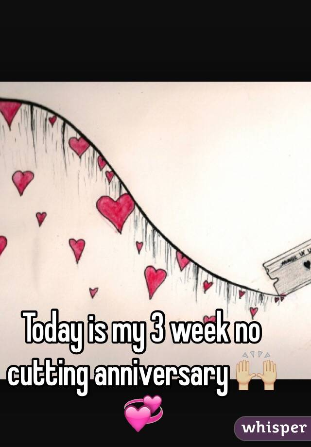 Today is my 3 week no cutting anniversary 🙌🏼💞