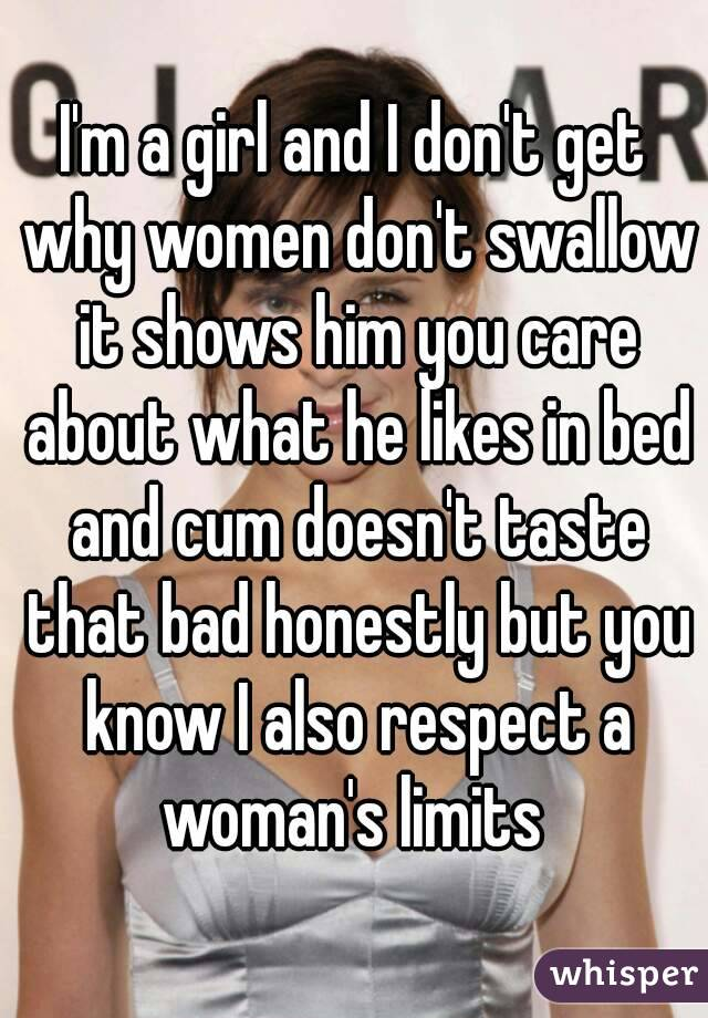 Do women like the taste of semen