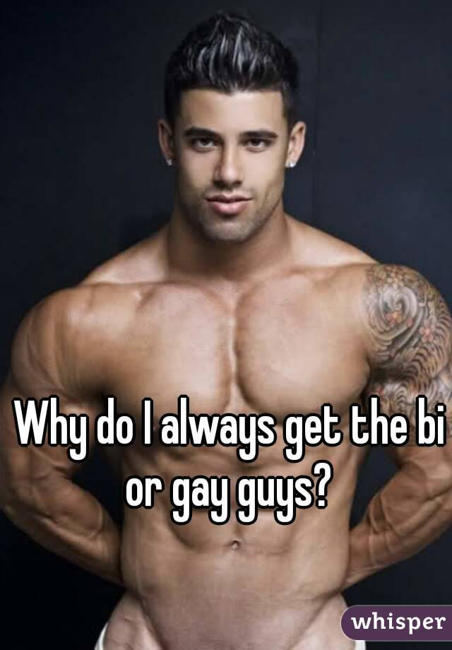 Why do I always get the bi or gay guys?