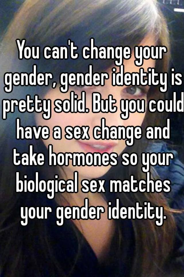 Can you have a sex change