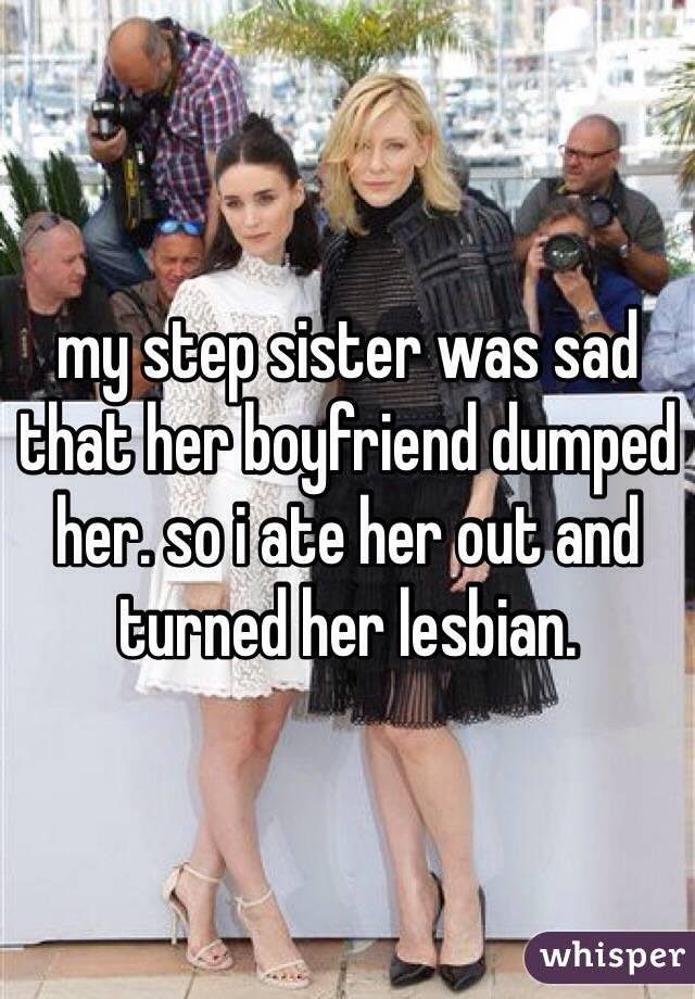 Lesbian from her boyfriend