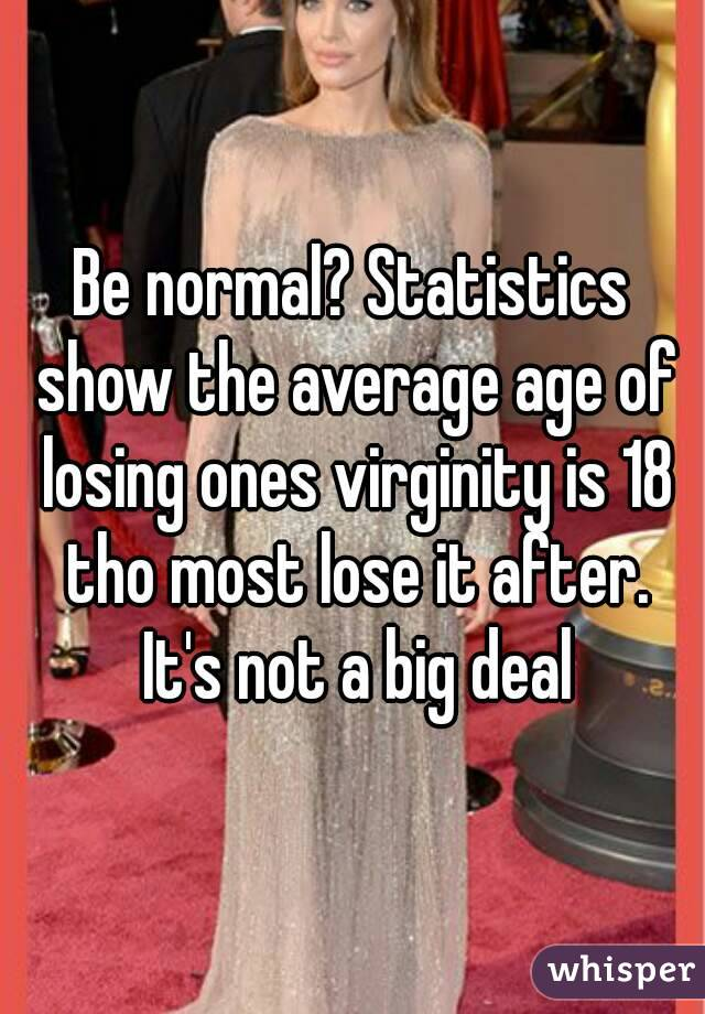 Losing virginity too big