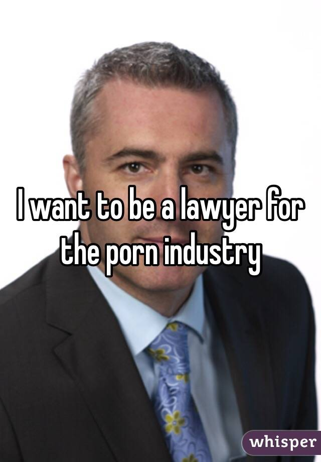 I want to be a lawyer for the porn industry