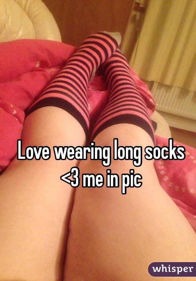 Love wearing long socks <3 me in pic