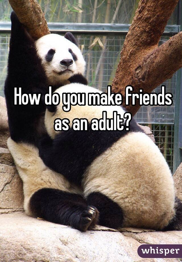 How do you make friends as an adult?