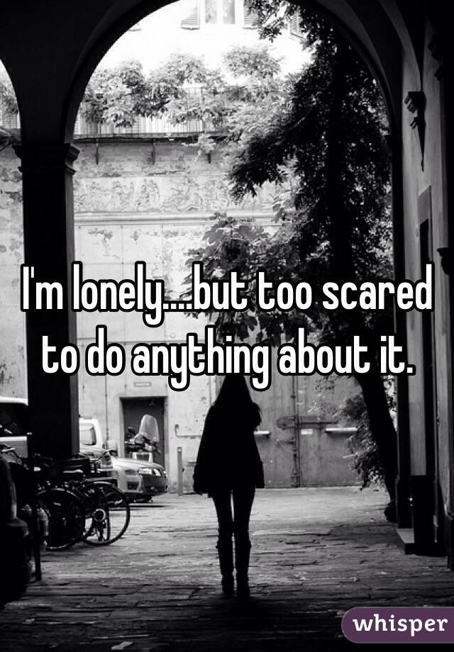 I'm lonely....but too scared to do anything about it.