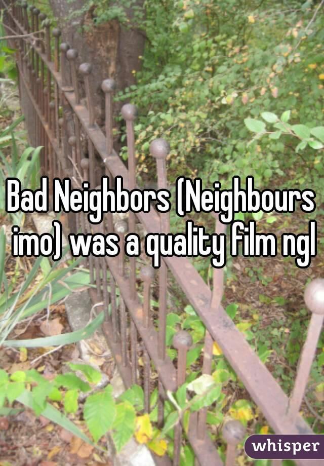 Bad Neighbors (Neighbours imo) was a quality film ngl