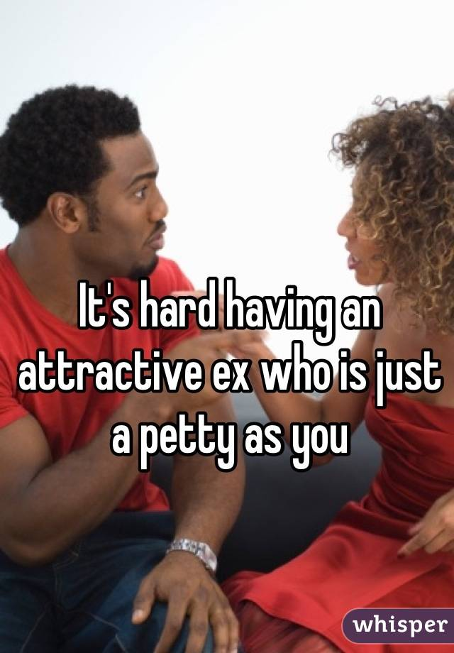 It's hard having an attractive ex who is just a petty as you