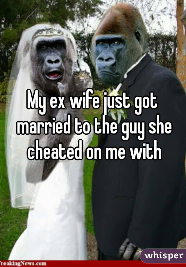 My ex wife just got married to the guy she cheated on me with