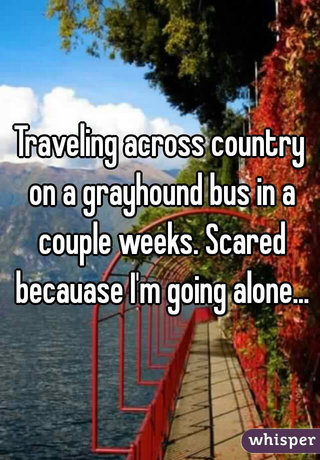 Traveling across country on a grayhound bus in a couple weeks. Scared becauase I'm going alone...