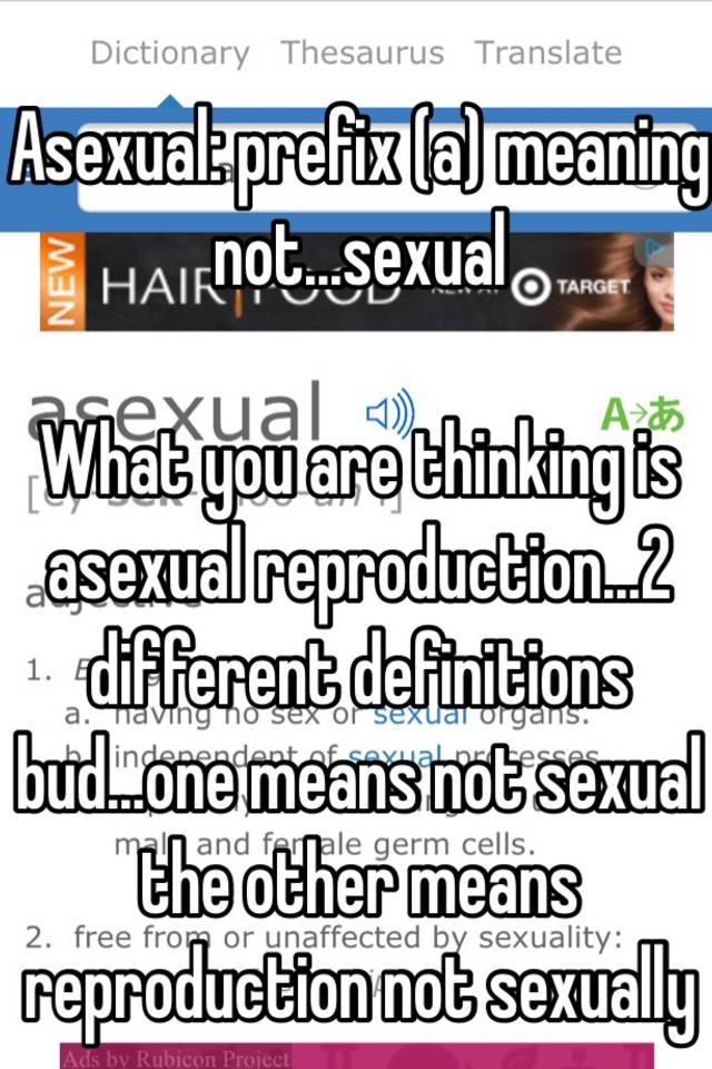 Asexual reproduction in humans possible synonym