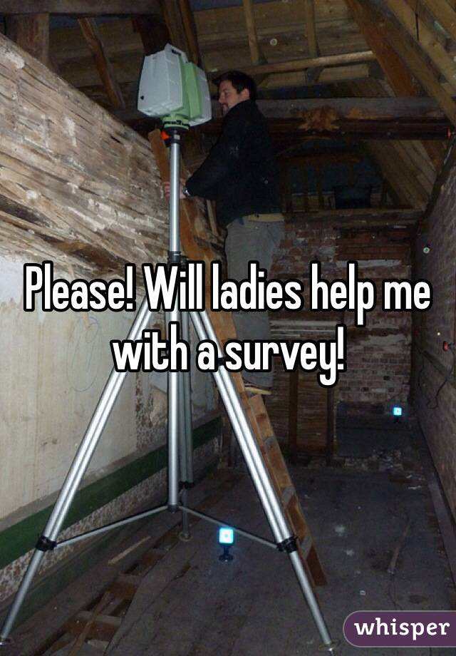 Please! Will ladies help me with a survey!