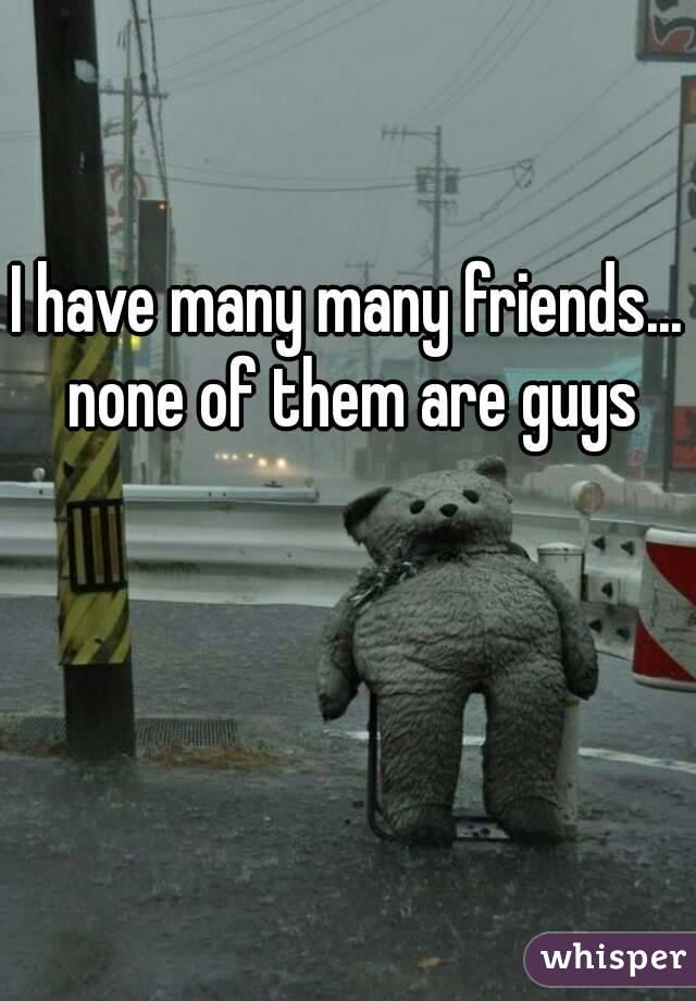 I have many many friends... none of them are guys