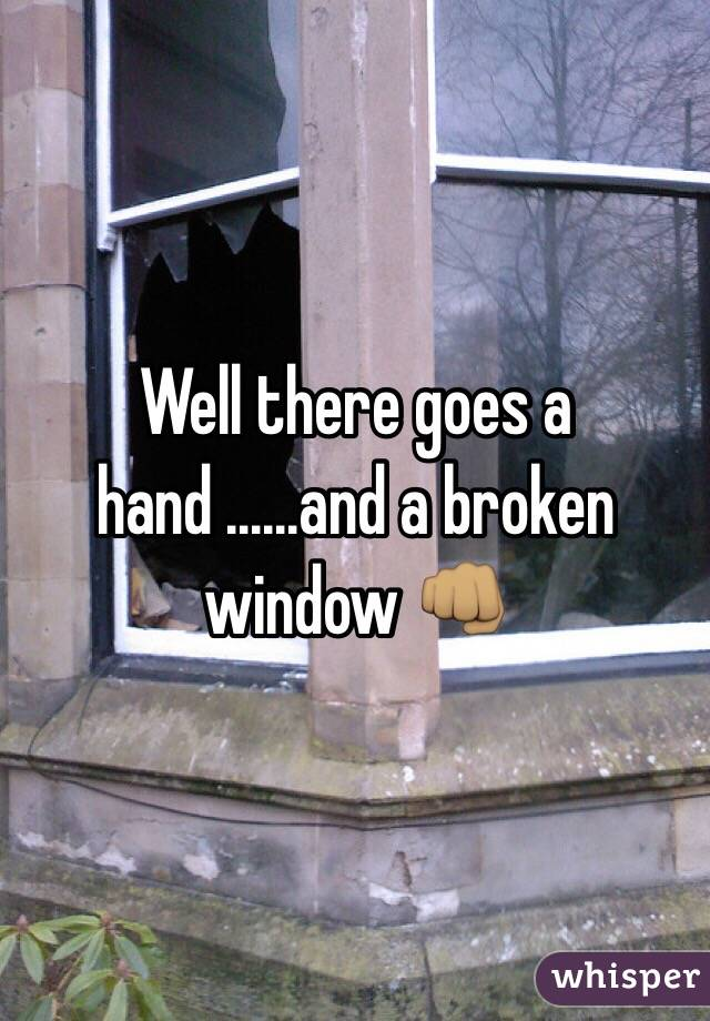 Well there goes a hand ......and a broken window 👊🏽