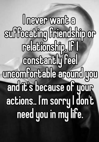Feeling suffocated in a relationship