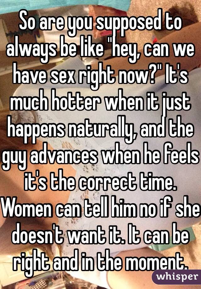 supposed to have sex