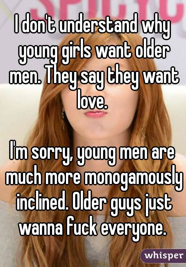 man Young girl caption older and