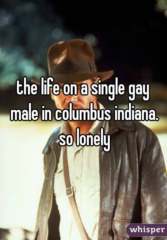 the life on a single gay male in columbus indiana. so lonely