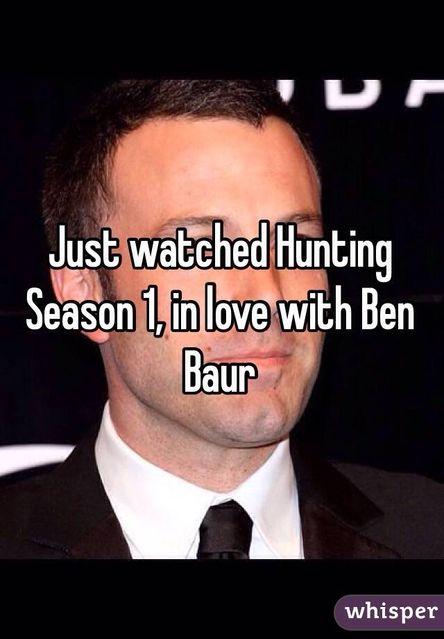 Just watched Hunting Season 1, in love with Ben Baur