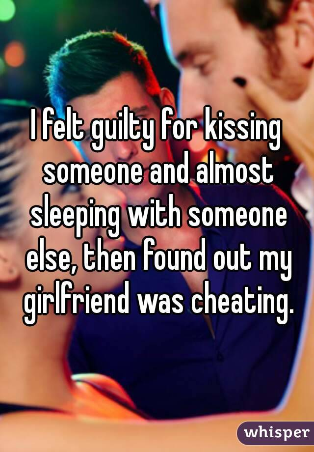 Is kissing someone else cheating