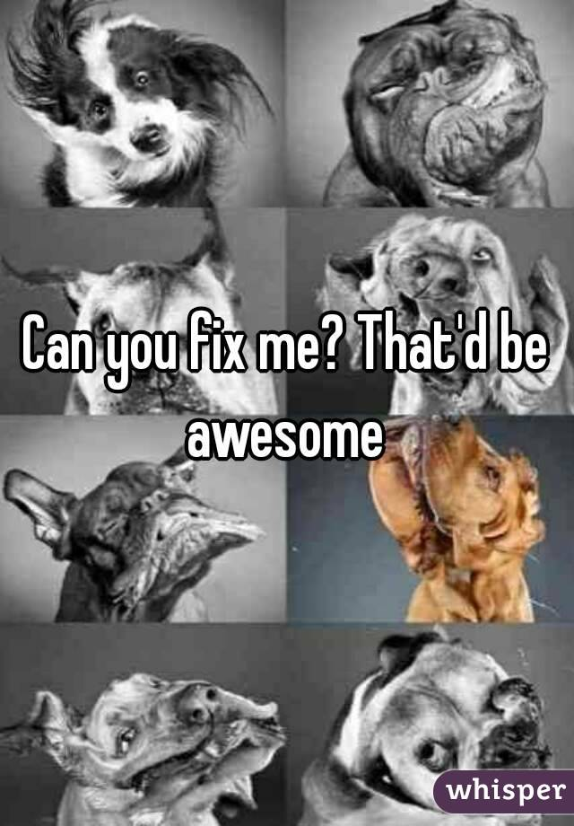 Can you fix me? That'd be awesome