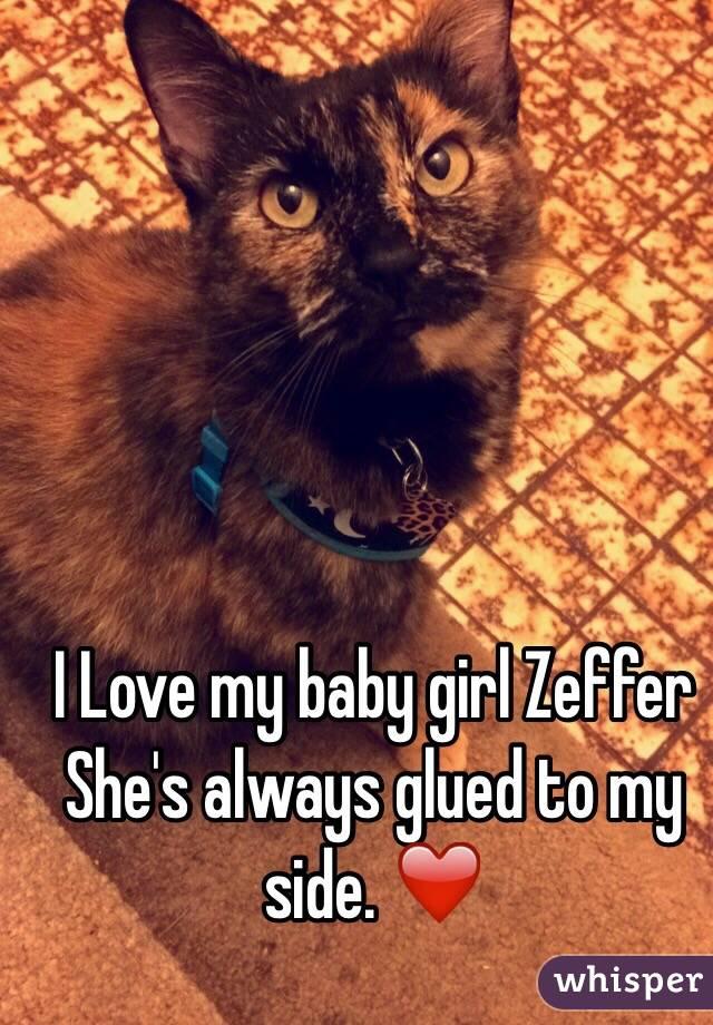 I Love my baby girl Zeffer  She's always glued to my side. ❤️